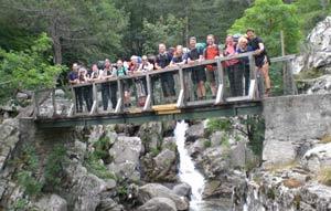 Brücke Richtung Bergerie de Tolla GR 20 Nord