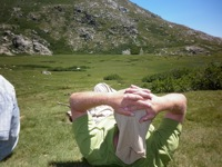 Ausblick Korsikas Bergwelt